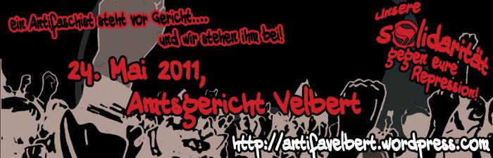 Soli-Kundgebung vorm Amtsgericht Velbert - Unsere Solidarität gegen eure Repression – Antifaschismus ist kein Verbrechen!